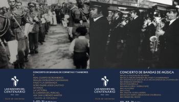 La Agrupación de Cofradías reúne a todas las bandas de la ciudad en dos conciertos históricos en el Castillo de Gibralfaro