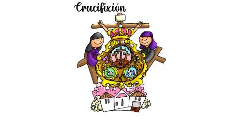 Crucifixión a color